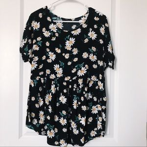 Short Daisy Floral Dress/Shirt